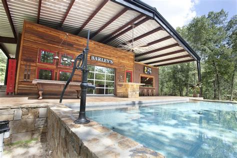 building a pool house metal building houses texas innovative metal canopy home