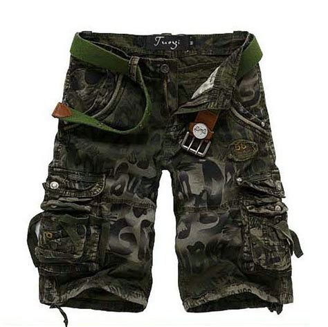 army pattern cargo shorts nwt men s army military style camouflage camo capri cargo