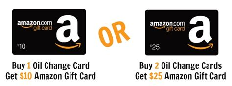 Oil Change Gift Card - get 8 oil changes 10 amazon gift card for 59 9 portland metro locations puget