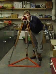 mike mcculloch demonstrates surveyor's tripod