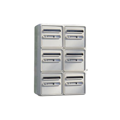 groupement 6 boites aux lettres lagon composite normalis 233 la poste