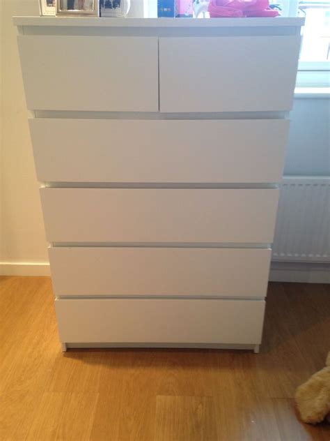 ikea malm chest of drawers ebay
