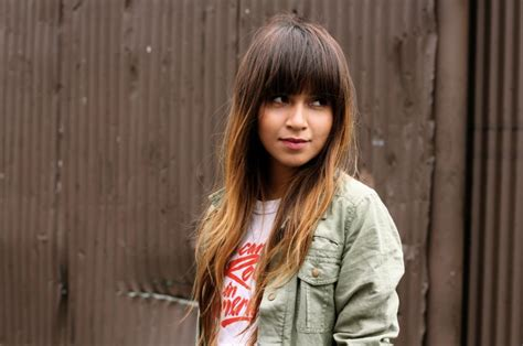 brunette hair with fringe ombre style ombre hair straight bangs medium hair styles ideas 32093
