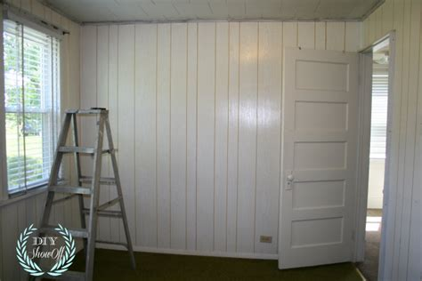 painting wall paneling painted stenciled paneled walls diy show off diy