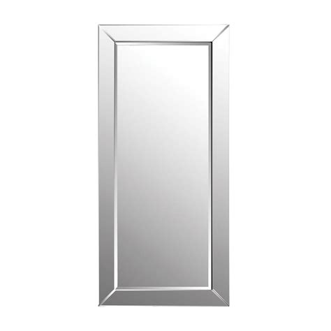 titan lighting 78 in x 36 in glass framed leaning floor mirror tn 892539 the home depot