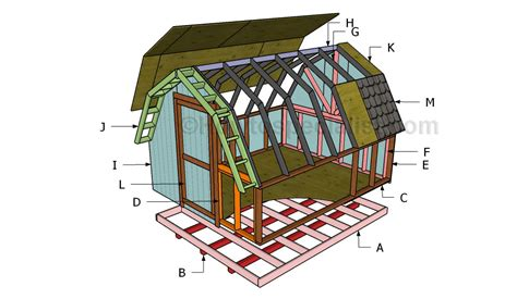 plans to build a barn how to build a barn shed roof howtospecialist how to