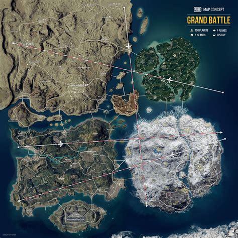 map concept  erangel miramar sanhok vikendi