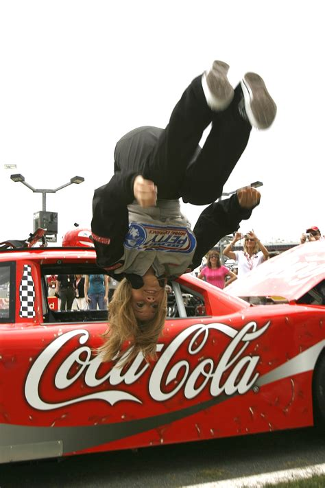 pure dancing   stars shawn johnson  backflip  nascar coca cola