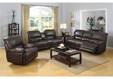badcock sofa and loveseat living room prescott brown leather reclining sofa
