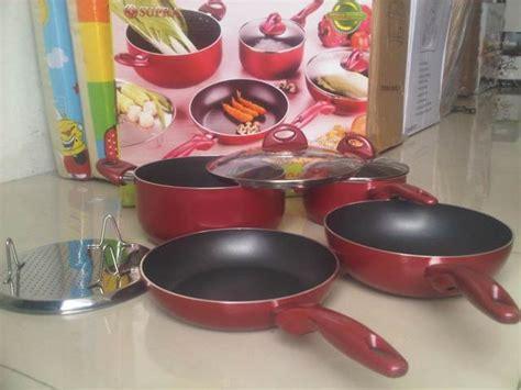 Bestware Panci Sauce Pot Set 3 Pcs Dengan Tutup Kaca Stainless Steel panci supra rosemery set perlengakapan dapur komplit 7 pcs