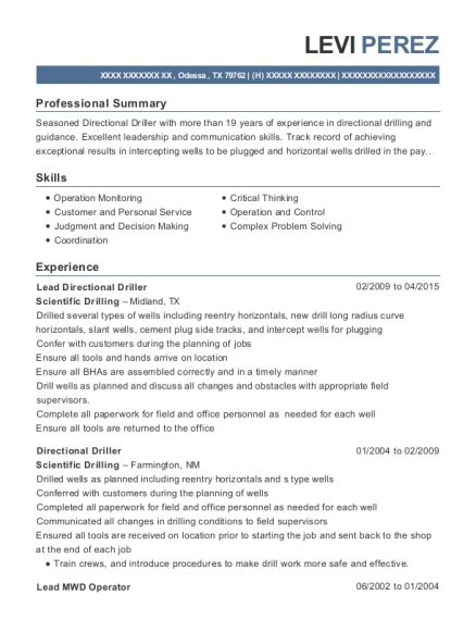amazing directional drilling resume photos simple resume office templates jameze