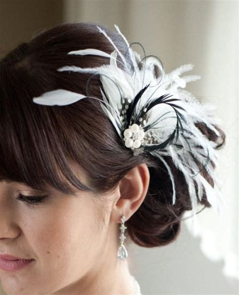 Wedding Hair Accessories With Feathers white feather fascinator search engine at search