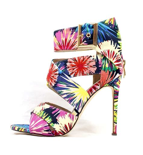 multi colored sandal heels barbara multi colored strappy wowtrendz stiletto high