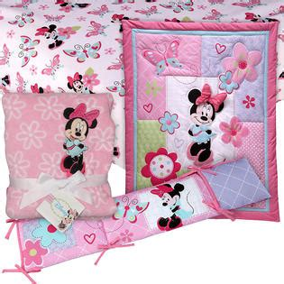 Minnie Mouse Crib Bedding Minnie Mouse 4 Pc Crib Set With Sheet Blanket Baby Bundle Baby Baby Bedding Bedding