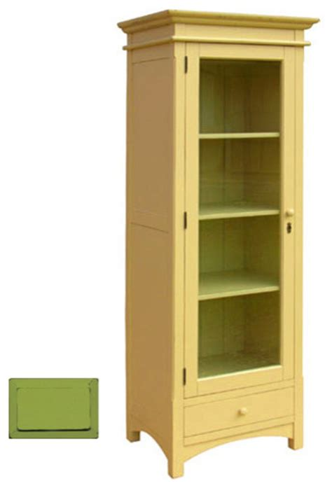 narrow cupboard with shelves shelves narrow cottage display cupboard green craftsman