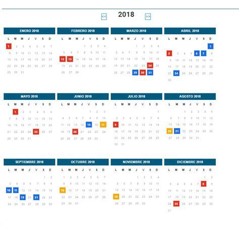 Calendario 2018 Con Feriados Chile Mir 225 El Cronograma De Feriados 2018 Aire De Santa Fe