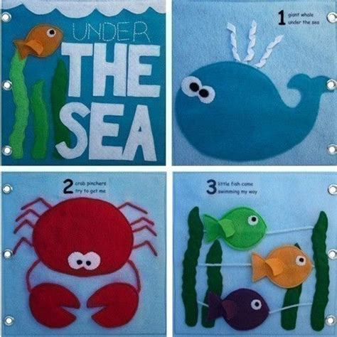 the sea felt book the sea book pattern busy book pattern