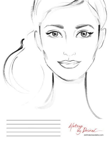 blank makeup template makeup artist blank sketch templates