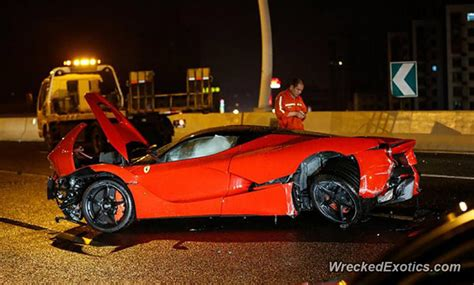 laferrari crash rm6 3 million ferrari laferrari wrecked in shanghai auto