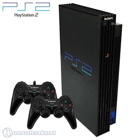 ebay playstation 2 console playstation 2 console black incl 2 gamepads cables