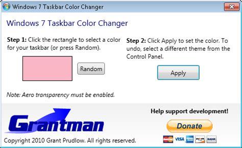 windows 7 change taskbar color change windows 7 taskbar color with windows 7 taskbar