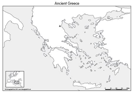 Ancient Greece Blank Map by Blank Map Ancient Greece