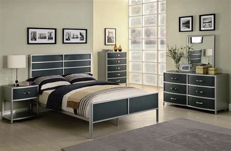 metal bedroom sets dewey 4 youth metal bedroom set in two tone finish by coaster 400391