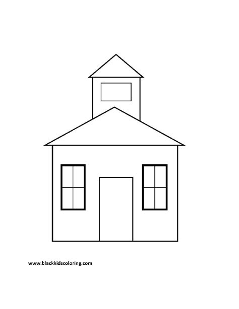 schoolhouse coloring pages printables school supplies