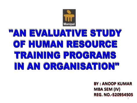 Certification Courses For Mba Hr Students by An Evaluative Study Of Human Resource Programs In