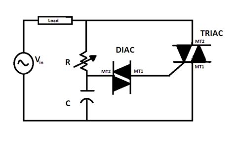 capacitor triac circuit electronics engineering project ac light dimmer