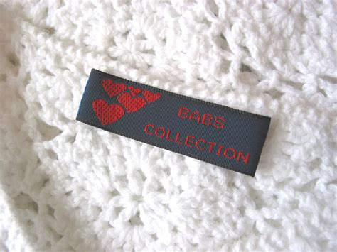 Tags For Handmade Items - woven labels for handmade items custom sewing labels