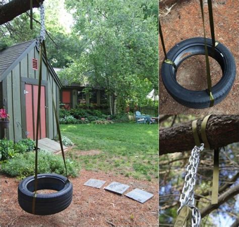 diy tire swing diy tire swing garden yard pinterest