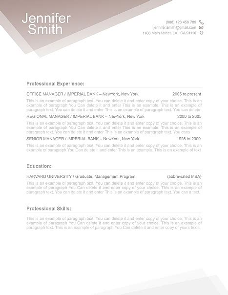 fre resume template free resume templates free resume