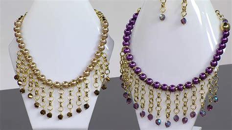 perlas de estambre manualidades pinterest manualidad collar con perlas en ensamble hogar tv por