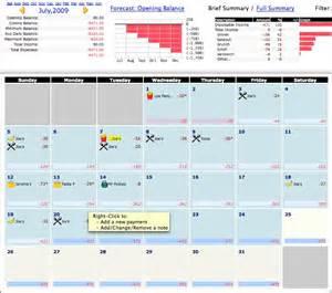 Calendar Budget Template Slightly Off Kilter Budget Calendar