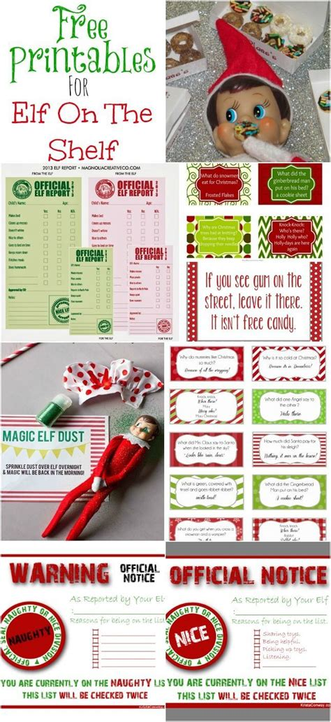 printable elf on a shelf jokes elf on the shelf printables freebies shelves on the