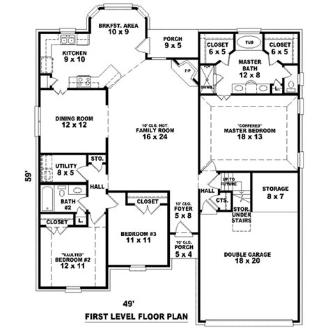 2 house blueprints house 26411 blueprint details floor plans