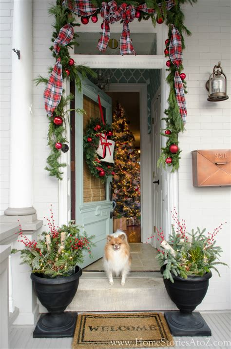 command strips christmas decorating frontdoor garland how to make wired ribbon from fabric