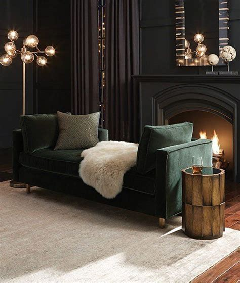 dark green couch living room 30 dark moody living room d 233 cor ideas digsdigs
