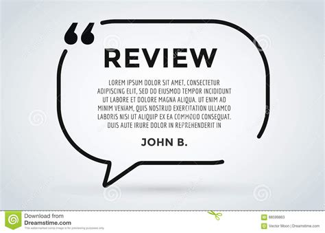 Website Review Quote Citation Blank Template Vector Icon Comment Customer Circle Paper Customer Review Website Template