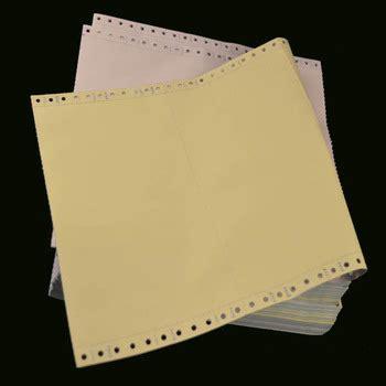 Kertas Ncr 3 ply continuous bentuk kertas ncr tanpa karbon kertas
