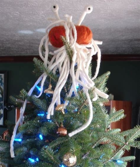 fsm flying spaghetti monster tree topper by nifnaks on