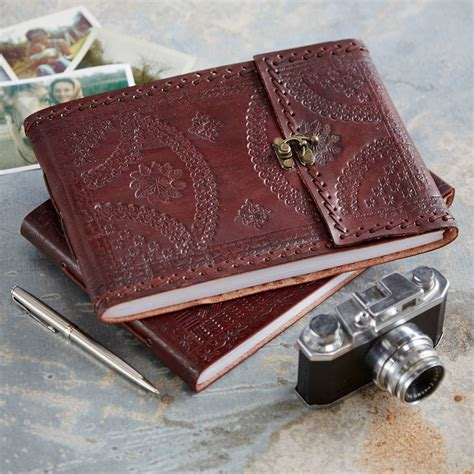 Handmade Leather Photo Albums - handmade indra medium leather photo album by paper high