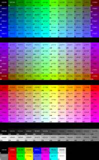 hex color chart hex color code with image exeideas let s your mind rock