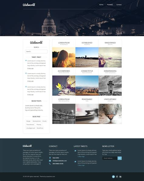 Web Design Template Free website design templates cyberuse