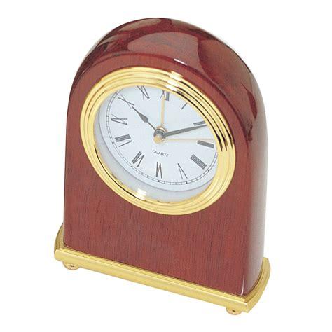 gold faced clock beveledge piano finish arched desktop alarm clock d464a
