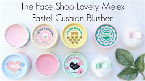 Thefaceshop Lovely Me Ex Pastel Cushion Blusher 1 phấn m 225 hồng the shop lovely meex cushion blusher beautyday vn