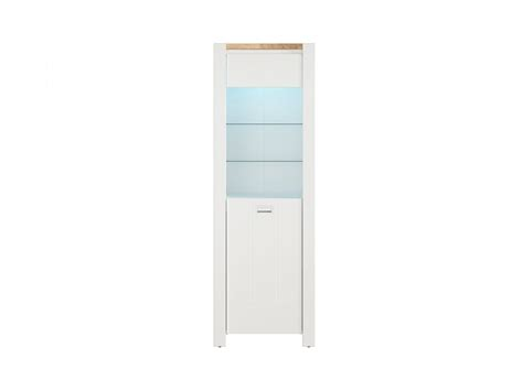 high cabinet with doors deviso glass cabinet showcase high cabinet 1 door white