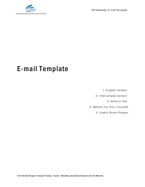 1 Email Template Doc Version Email Template Doc