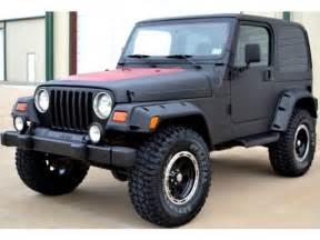 2000 jeep wrangler 4x4 custom matte black lift